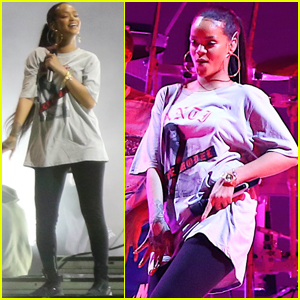 Rihanna Gets Ready For Her Global Citizen Festival Performance