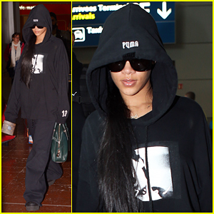 Rihanna Leaves NYC For Paris Fashion Week!