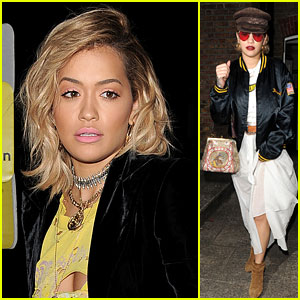 Rita Ora Spends Time at the Studio in London