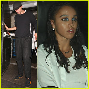 Robert Pattinson & FKA Twigs Party With Drake After His Concert