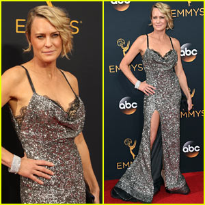 Robin Wright Shines on the Red Carpet at Emmy Awards 2016