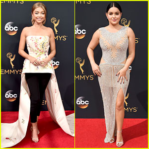 Sarah Hyland & Ariel Winter Glam Up for Emmys 2016 Red Carpet