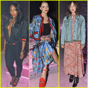 Serena Williams, Anya Taylor-Joy, & Dakota Johnson Attend Gucci Show During Milan Fashion Week!