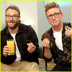 Seth Rogen & Tyler Oakley Test Weird Food Combinations - Watch Now!