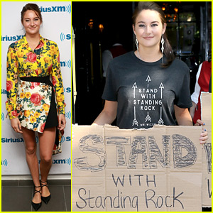 Shailene Woodley Takes a Break from 'Snowden' Press to Stand with Standing Rock
