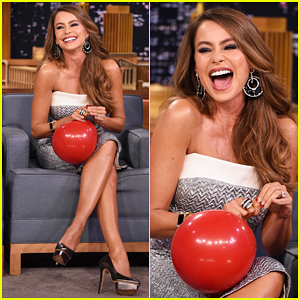 Sofia Vergara Chats with Jimmy Fallon While Sucking Helium! (Video)