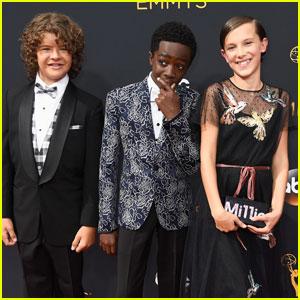 'Stranger Things' Kids Team Up for Emmys 2016 Red Carpet