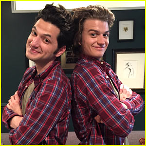 Stranger Things' Joe Keery & Parks & Rec's Ben Schwartz Performed a Father-Son Sketch! (Video)