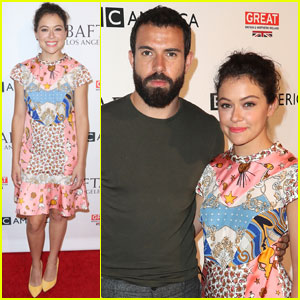 Tatiana Maslany & Tom Cullen Couple Up for BAFTA's Tea Party