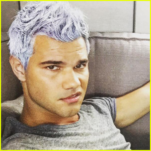 Taylor Lautner Just Dyed His Hair Purple!