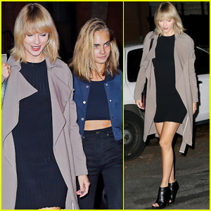 Taylor Swift & Cara Delevingne Have a Girls' Night Out