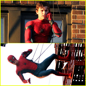 Tom Holland Performs His Own 'Spider-Man' Stunts on NYC Fire Escape!