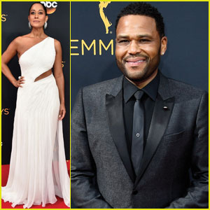 Anthony Anderson & Tracee Ellis Ross Present Together at Emmy Awards 2016