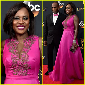Viola Davis Makes Her Arrival to Emmy Awards 2016