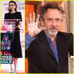 Winona Ryder Attends Tim Burton's Hand & Footprint Ceremony!
