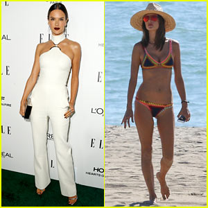 Alessandra Ambrosio Hits the Beach in a Bikini Before Attending 'Elle' Women In Hollywood Awards