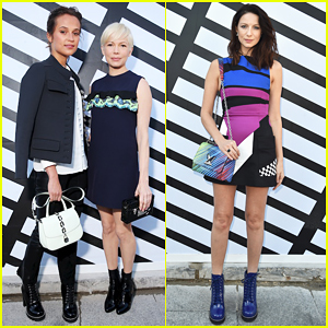 Alicia Vikander, Michelle Williams & Caitriona Balfe Hit Up Louis Vuitton Paris Fashion Show!