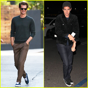 Andrew Garfield Promotes 'Hacksaw Ridge' Before Seeing Kanye West Live At The Forum!
