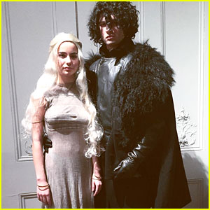 Ansel Elgort & Violetta Komyshan Went 'Game of Thrones' Themed for Their Couples Halloween Costume!