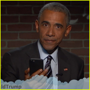 President Obama Digs Donald Trump While Reading Mean Tweets on 'Kimmel' - Watch It!