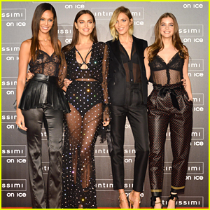 Irina Shayk, Joan Smalls & Anja Rubik Step Out at Intimissimi On Ice 2016