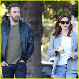 Ben Affleck & Jennifer Garner Do a Morning School Run Together