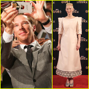 Benedict Cumberbatch & Tilda Swinton Premiere 'Doctor Strange' in Shanghai!