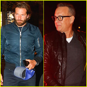 Bradley Cooper Parties With Tom Hanks After 'SNL' in NYC