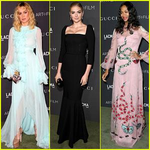 Brie Larson, Kate Upton, & Zoe Saldana Bring Their Men to LACMA Gala