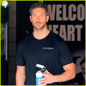 Calvin Harris Works on Fitness Before Halloween
