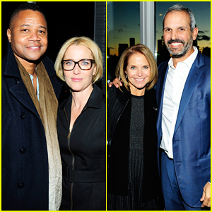 Cuba Gooding Jr. & Katie Couric Support Gillian Anderson At 'WE: A Manifesto for Women' Book Celebration!