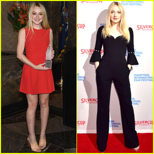 Dakota Fanning Visits the Top of the Empire State Building