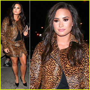 Demi Lovato Shows Off Brunette Hair During Dinner Out in LA