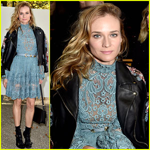 Diane Kruger Sits Front Row for Elie Saab's PFW Show