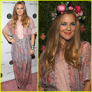 Drew Barrymore Brings Flower Beauty to Beautycon