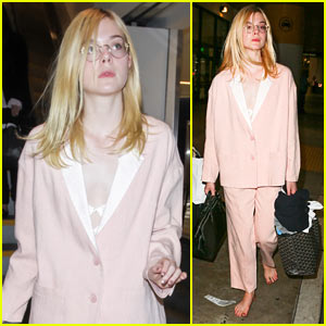 Elle Fanning Explains Why She Went Barefoot at LAX in Instagram Post!