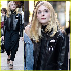 Elle Fanning Strolls Around NYC Before NYFF Premiere