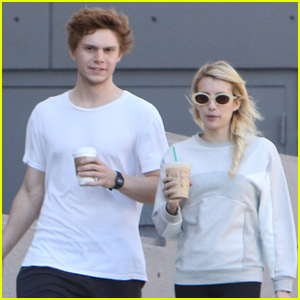 Emma Roberts & On-Again Boyfriend Evan Peters Go Shopping