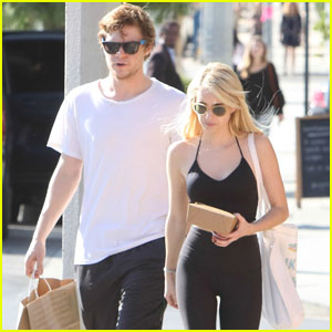 Emma Roberts & Evan Peters Couple Up for Post-Workout Juice