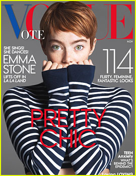 Emma Stone Shows Off Pixie Cut for 'Vogue' November 2016