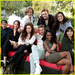 Emmy Rossum & 'Shameless' Cast Watch Season 7 Premiere at William H. Macy's Home!