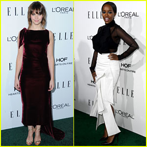 Felicity Jones & Aja Naomi King Honored at 'Elle' Women In Hollywood Awards