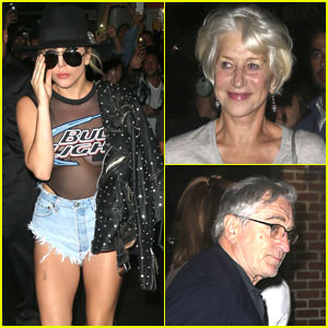Lady Gaga Celebrates the Release of 'Joanne' with Robert de Niro & Helen Mirren!