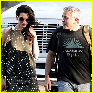 George Clooney Visits 'Suburbicon' Set with Wife Amal