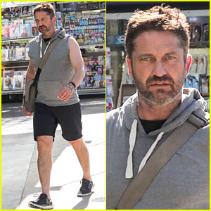 Gerard Butler Gets in SoulCycle Workout