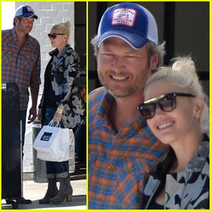 Gwen Stefani & Blake Shelton Enjoy Lunch Date in WeHo!