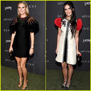 Gwyneth Paltrow & Demi Moore Get Glam in Gucci for LACMA Gala