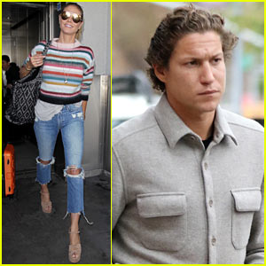 Heidi Klum Arrives in LA While Boyfriend Vito Schnabel Steps Out in NYC