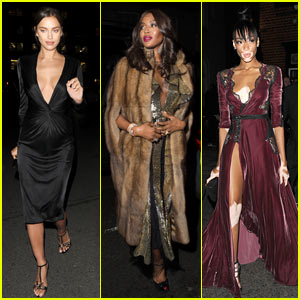 Irina Shayk & Naomi Campbell Step Out to Celebrate Stylist Edward Enninful in London