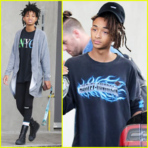 Willow & Jaden Smith Hang Out with Friends in WeHo